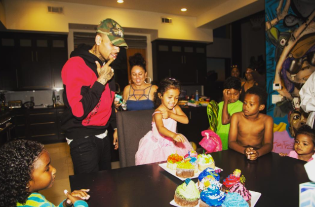 Chris Brown Might Be A Terrible Boyfriend, But It Looks Like He's A Great Father: Throws Royalty A Grand Birthday Party…POOL AND SIX FLAGS!