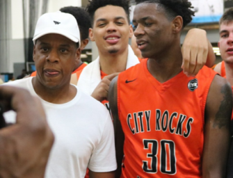 Jay Z's Nephew Posterizes Two Of the Best H.S. Ballers in the Country.  But Wait, Didn't Hov Shoot Your Father When He was 12? Nahziah Carter Answers that Question! (DUNK VIDEO AND DETAILS)