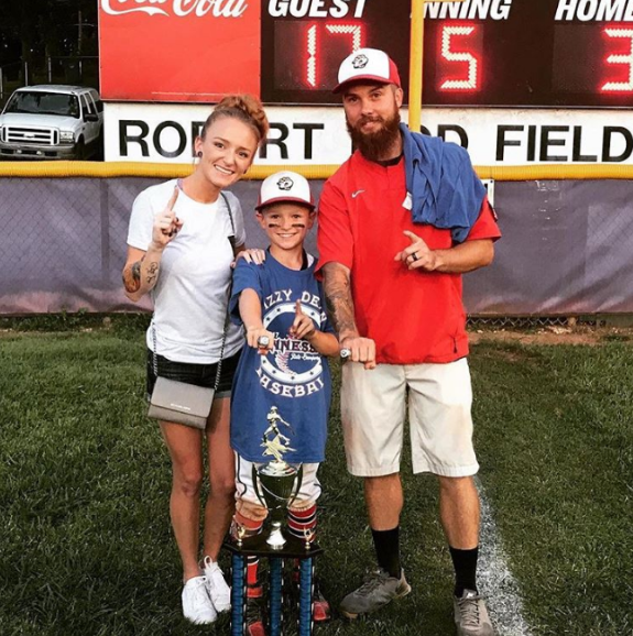 Ryan Edwards Looks Happy And Healthy After 30-Day Stay In Rehab, Poses For A Photo With Bentley At Championship Baseball Game (PHOTOS)