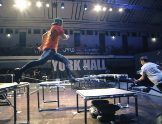 Wait, WTF? Professional Tag Is A Real Thing, Watch These Grown Men Chase Each Other Around A Ridiculous Obstacle Course! (VIDEO)