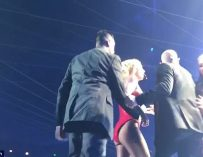 "Insane Video Shows Crazed Fan Rushing The Stage At Britney Spears Show In Vegas: ""HE'S GOT A GUN?"""