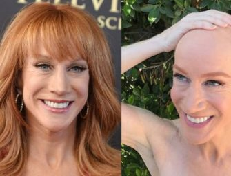 Kathy Griffin Just Moved Off My D-list.  Shaves Her Head to Show Support For Sister Fighting Cancer!