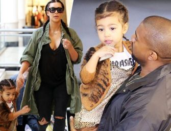 "So Freaking Cute: North West Is Obviously Learning From Her Daddy, Tells The Paparazzi ""No Pictures, No Questions!"" (VIDEO)"