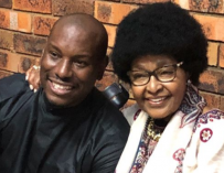 Tyrese Again.  Claims Now That He's Not Broke, His Wife is Not Pregnant & Visits Winnie Mandela and Gives Her One of the Most Pompous, Arrogant Gifts. (VIDEO OF TYRESE AND WINNIE)