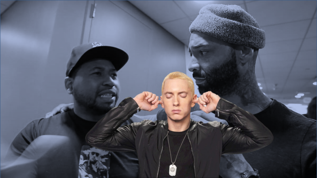 """WATCH: Joe Budden and DJ Akademiks Slam Eminem's New Song 'Untouchable"""".  """"This is the worse song I ever heard"""" and Lots of Fans Are Agreeing. Is Eminem Trash Now? (Clip and Full Video)"""